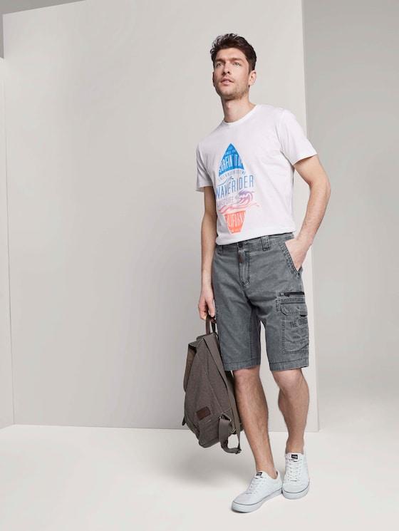 Cargo Bermuda-Shorts im Washed-Look - Männer - Blue Grey - 3 - TOM TAILOR