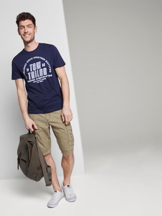 Cargo Bermuda-Shorts im Washed-Look - Männer - Honey Camel beige - 3 - TOM TAILOR