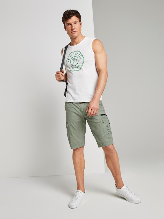 Cargo Bermuda-Shorts im Washed-Look  - Männer - light summer olive - 3 - TOM TAILOR