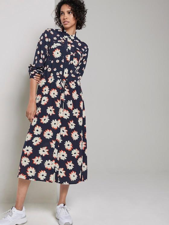 floral print dress - Women - navy floral design - 5 - Mine to five