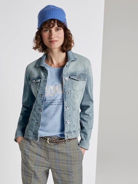 Denim jacket - Women - Used Light Stone Blue Denim - 5 - TOM TAILOR