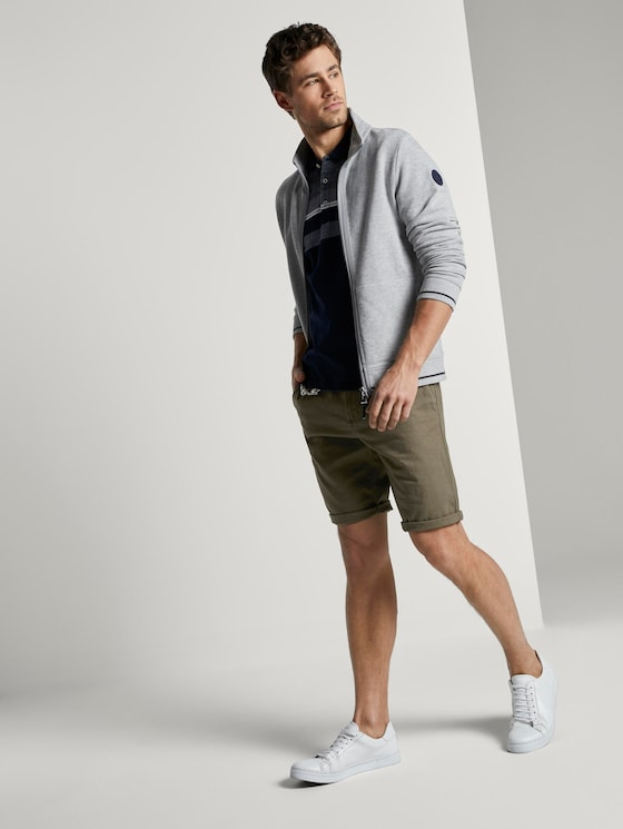 Chino-Shorts mit Kordelanhänger   - Männer - Olive Night Green - 3 - TOM TAILOR