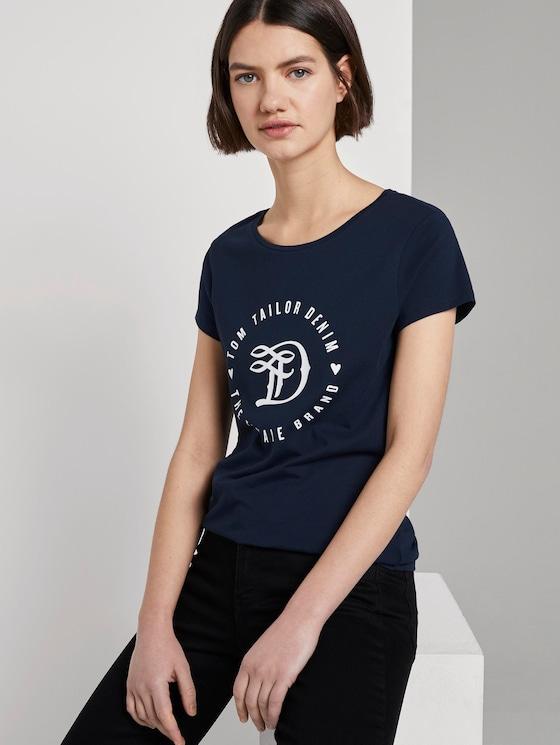 Jersey T-Shirt aus Bio-Baumwolle - Frauen - Real Navy Blue - 5 - TOM TAILOR Denim