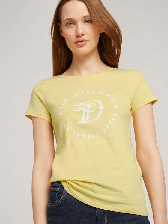 Jersey T-Shirt aus Bio-Baumwolle - Frauen - honey popcorn - 5 - TOM TAILOR Denim