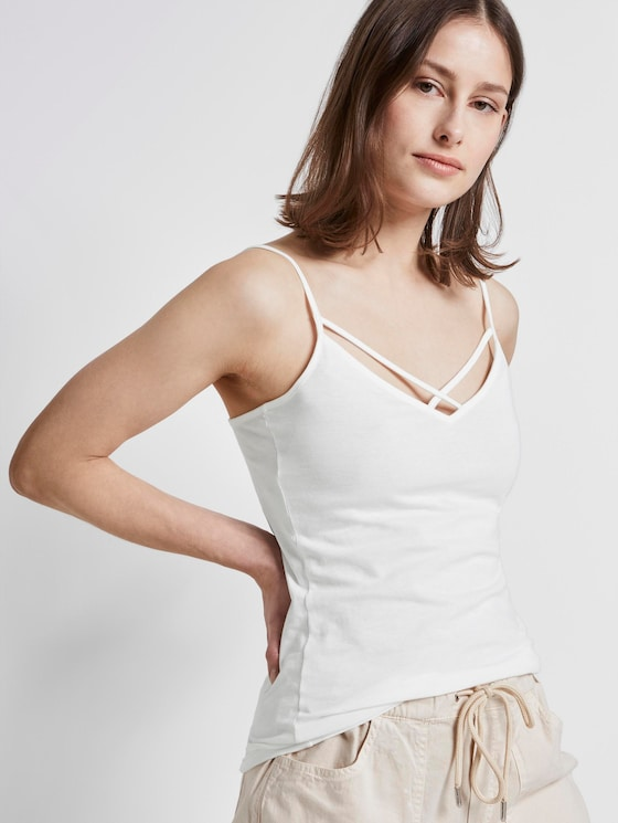 Top mit Bio-Baumwolle   - Frauen - Off White - 5 - TOM TAILOR Denim