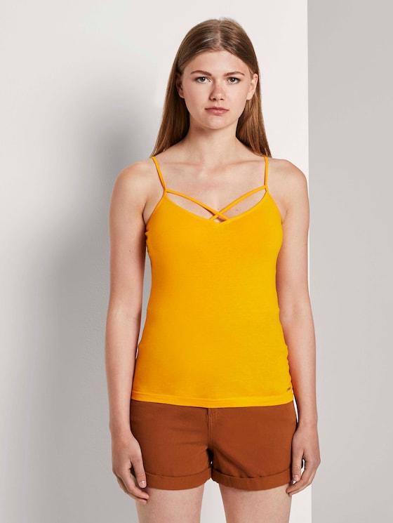 Bbiologisch katoen top - Vrouwen - orange yellow - 1 - TOM TAILOR Denim