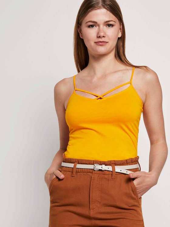 Top mit Bio-Baumwolle   - Frauen - orange yellow - 5 - TOM TAILOR Denim