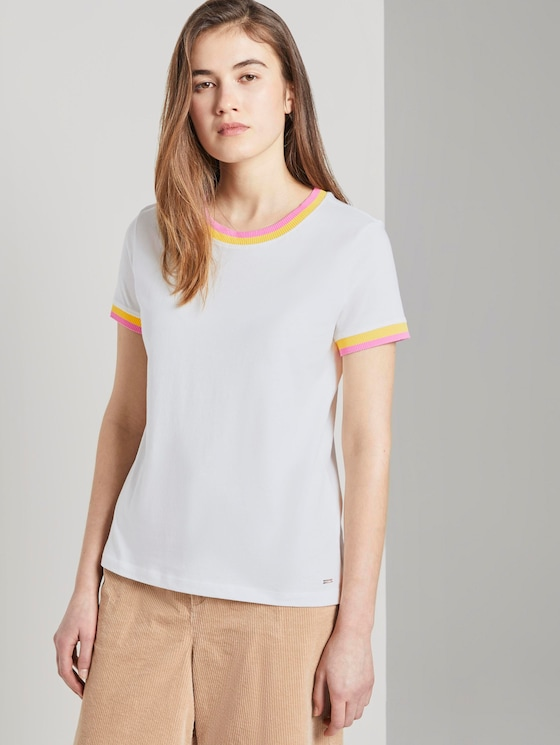 Jersey T-Shirt - Frauen - Off White - 5 - TOM TAILOR Denim