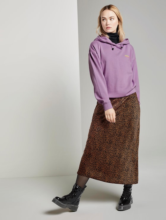 Midi-skirt with Leo pattern - Women - black leo print - 3 - TOM TAILOR Denim