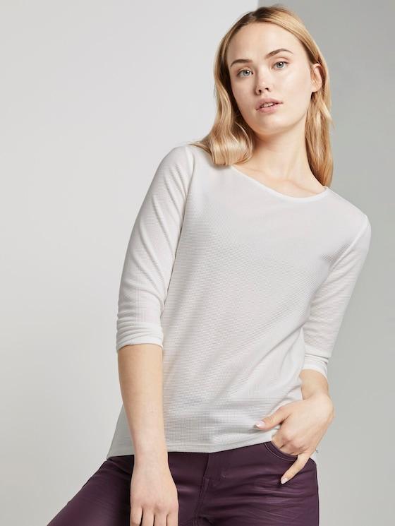3/4 Arm Shirt - Frauen - Off White - 5 - TOM TAILOR Denim