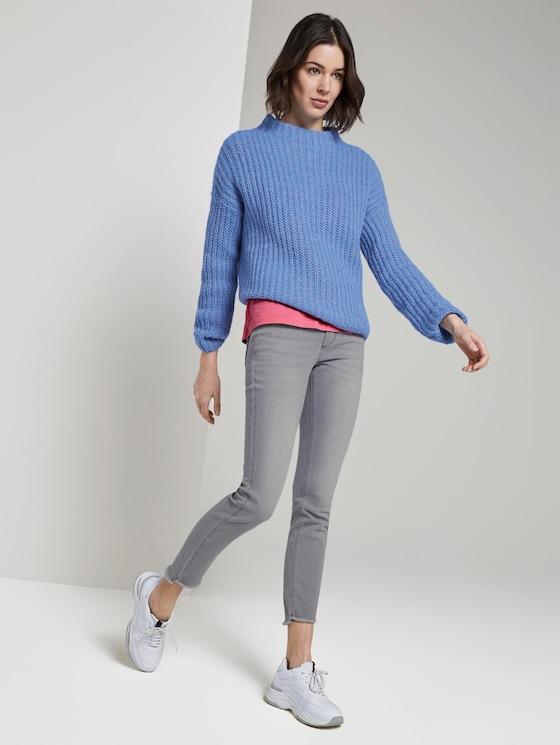 Alexa Skinny Jeans mit Fransen - Frauen - clean light stone grey denim - 3 - TOM TAILOR