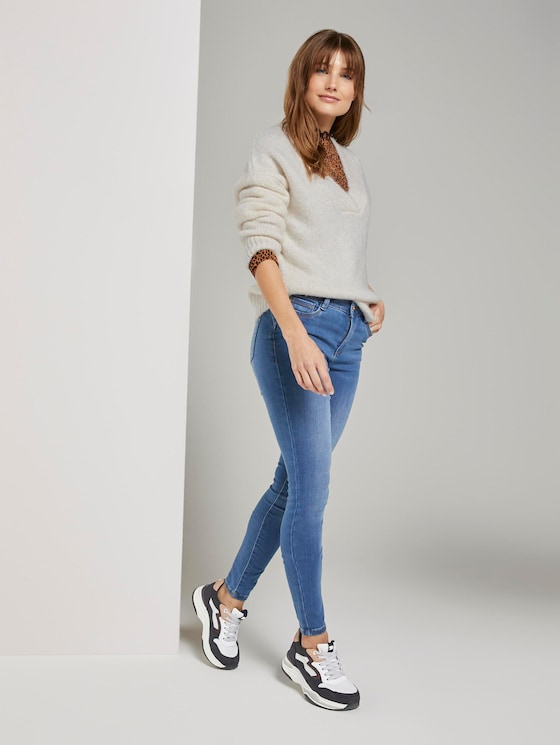 Nela Exra Skinny Shaping Jeggings - Frauen - Used Mid Stone Blue Denim - 3 - TOM TAILOR Denim