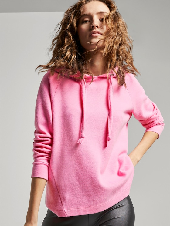 Jumper with hood - Women - wild orchid pink - 5 - TOM TAILOR Denim