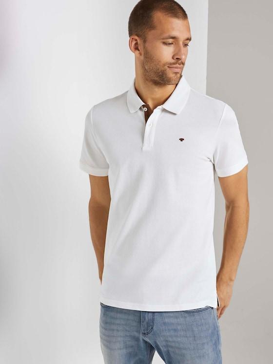 Basic Poloshirt - Männer - Off White - 5 - TOM TAILOR