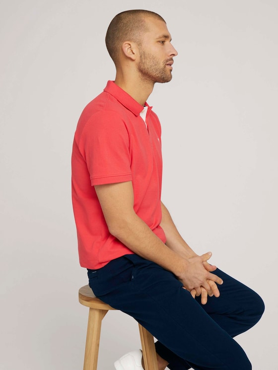Basic Poloshirt - Männer - Plain Red - 5 - TOM TAILOR