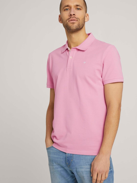 Basic Poloshirt - Männer - Morning Pink - 5 - TOM TAILOR