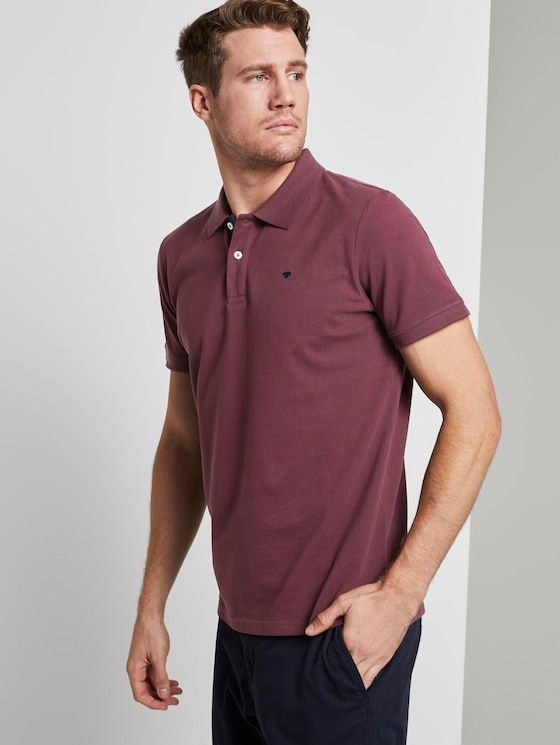 Basic Poloshirt - Männer - Dusty Wildberry Red - 5 - TOM TAILOR