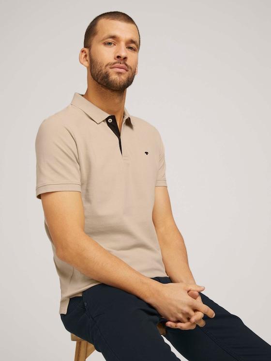 Basic Poloshirt - Männer - Sandy Beige - 5 - TOM TAILOR