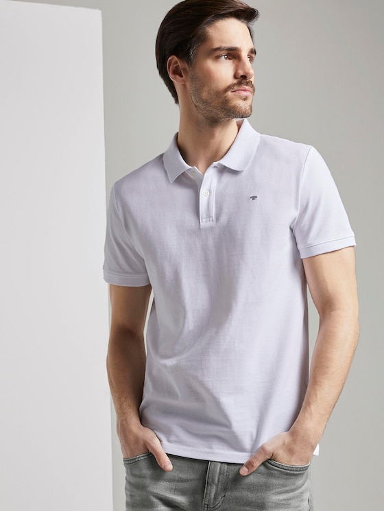 Basic Poloshirt - Männer - White - 5 - TOM TAILOR