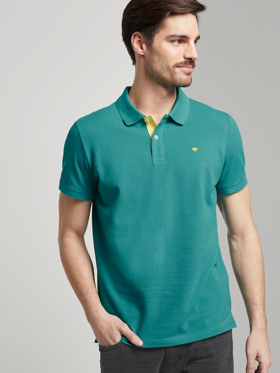 Basic Poloshirt - Männer - ever green - 5 - TOM TAILOR