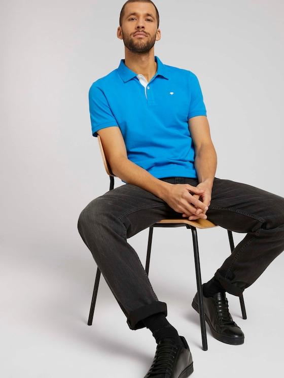 Basic Poloshirt - Männer - bright ibiza blue - 5 - TOM TAILOR