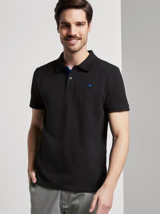 Basic Poloshirt - Männer - Black - 5 - TOM TAILOR
