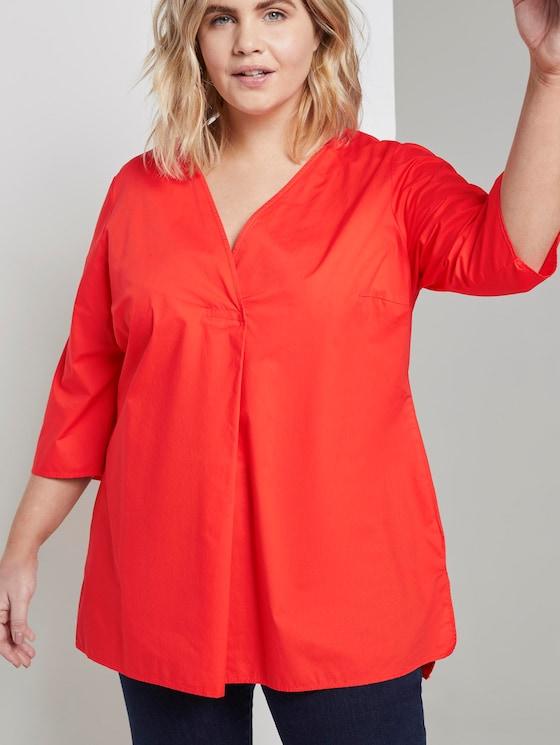 3/4 Arm Bluse mit Falte - Frauen - signal red - 5 - My True Me