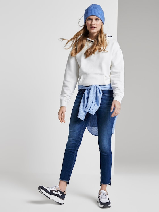Carrie Slim Jeans - Vrouwen - Used Mid Stone Blue Denim - 3 - TOM TAILOR