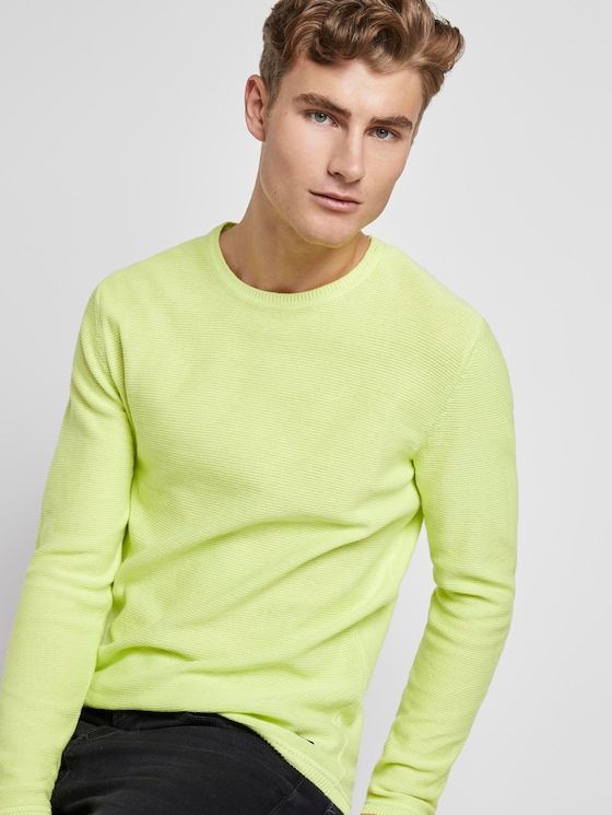 gebreide trui - Mannen - neon green - 5 - TOM TAILOR Denim