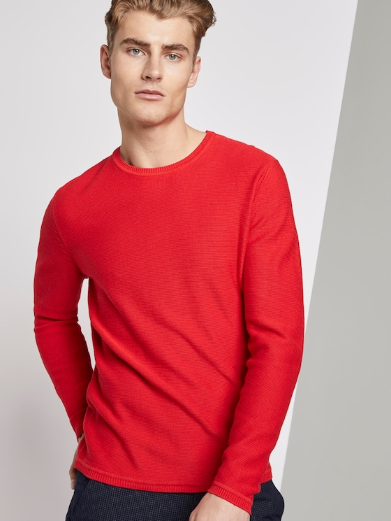 Strickpullover - Männer - very red - 5 - TOM TAILOR Denim