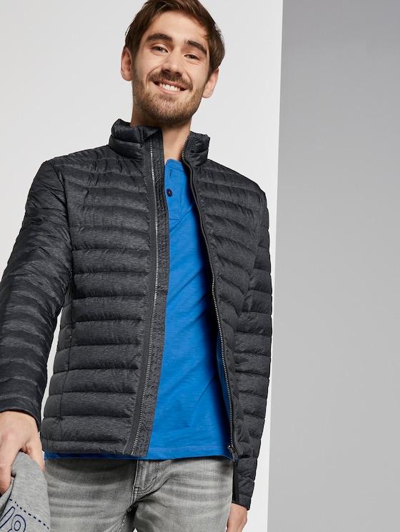 Leichte Jacke mit Stehkragen - Männer - grey melange design - 5 - TOM TAILOR
