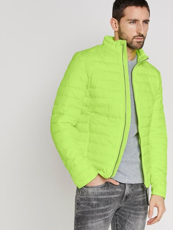 Leichte Jacke mit Stehkragen - Männer - bright neon yellow - 5 - TOM TAILOR