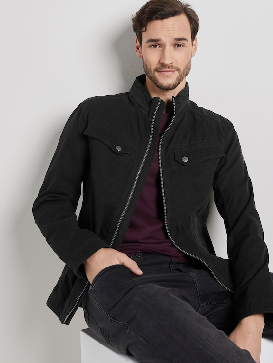 Moderne Canvas-Jacke - Männer - Black - 5 - TOM TAILOR