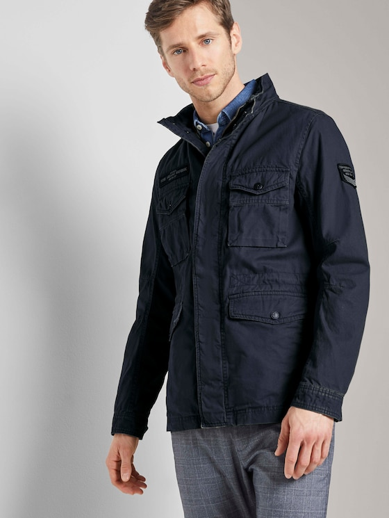Jacke mit hohem Kragen - Männer - Sky Captain Blue - 5 - TOM TAILOR