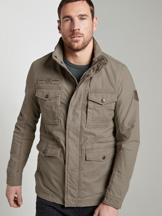 Jacke mit hohem Kragen - Männer - Coastal Fog Beige - 5 - TOM TAILOR