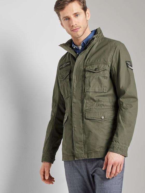 Jacke mit hohem Kragen - Männer - Olive Night Green - 5 - TOM TAILOR