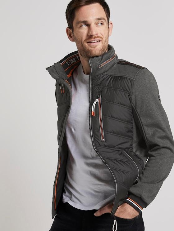 Hybrid Fleece-Jacke - Männer - Black - 5 - TOM TAILOR