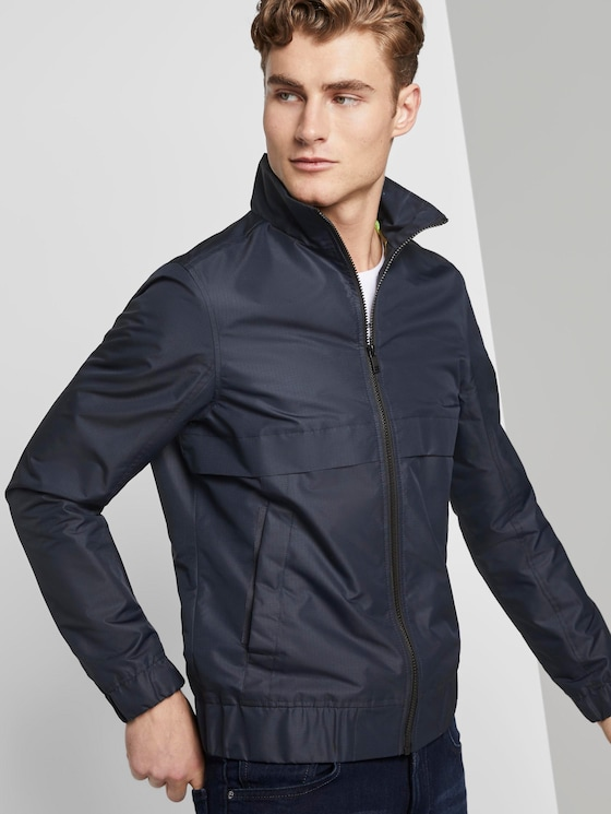 modern jacket with a stand-up collar - Men - Sky Captain Blue - 5 - TOM TAILOR Denim