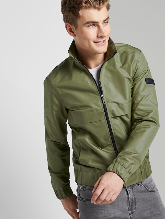 modern jacket with a stand-up collar - Men - faded moss green - 5 - TOM TAILOR Denim