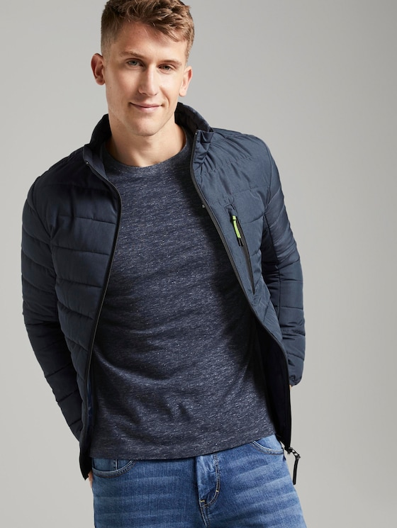 Lightweight jacket - Men - Dark Blue Melange - 5 - TOM TAILOR Denim