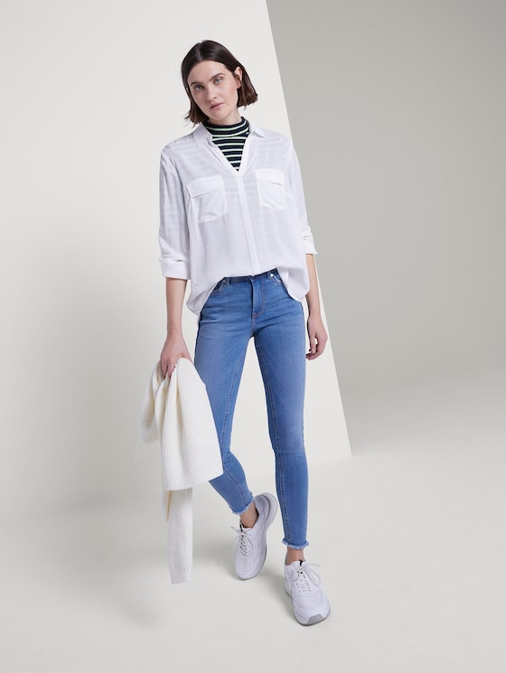 Nela Extra Skinny Push Up Effect - Frauen - Used Mid Stone Blue Denim - 3 - TOM TAILOR Denim