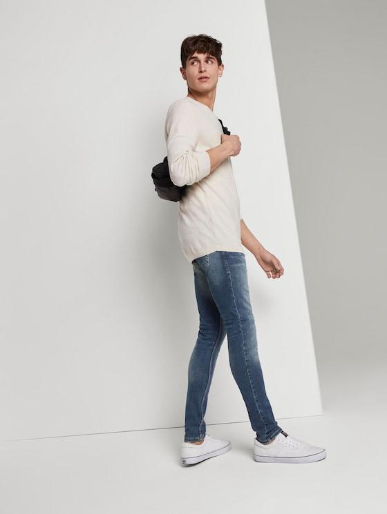 Culver Skinny Jeans - Männer - Used Dark Stone Blue Denim - 3 - TOM TAILOR Denim