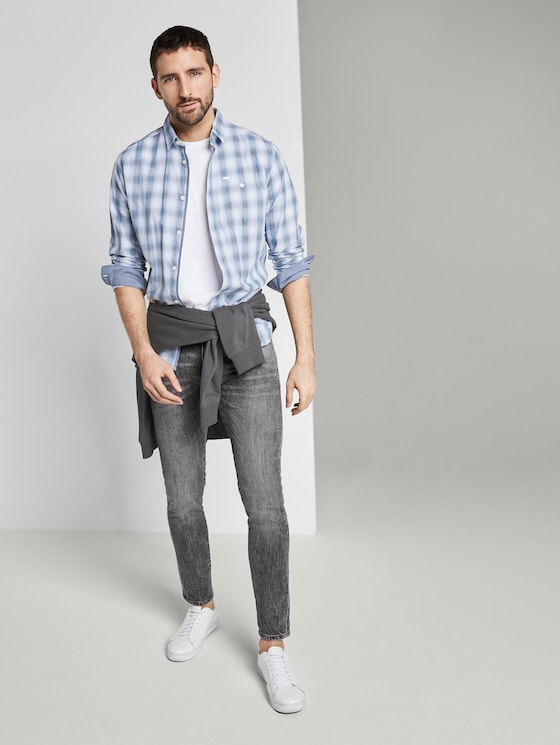 Troy Slim Jeans - Männer - grey denim - 3 - TOM TAILOR