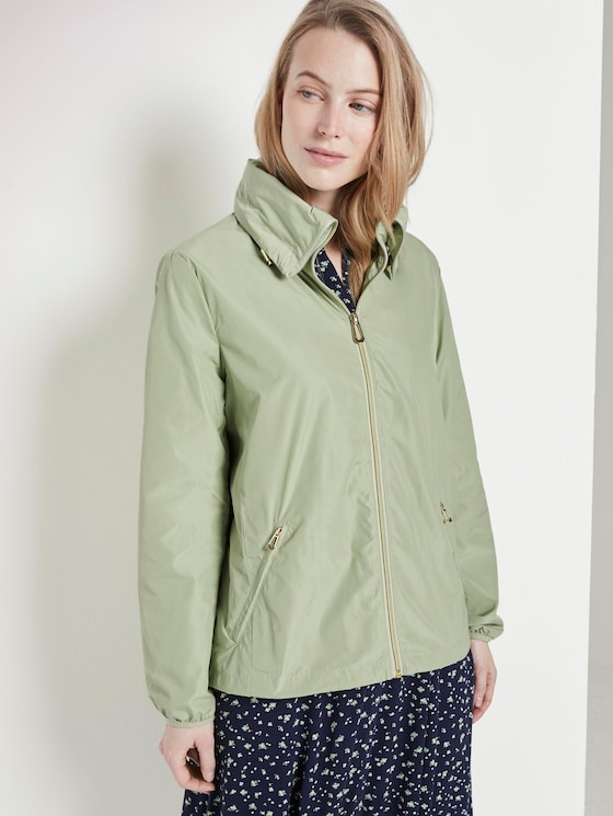 Jacket with a detachable hood - Women - light moor green - 5 - TOM TAILOR
