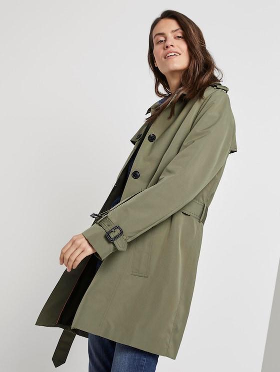 Wasserabweisender Trenchcoat - Frauen - Tree Moss Green - 5 - TOM TAILOR