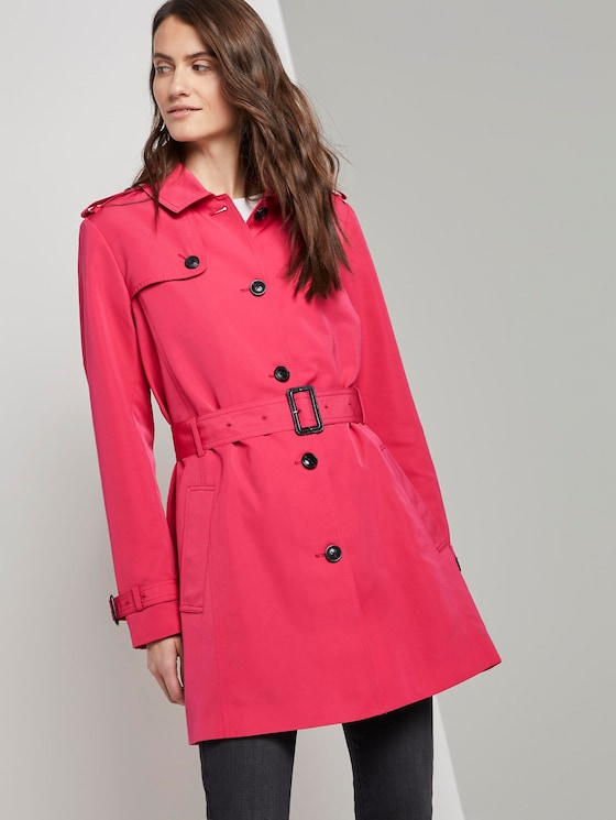 Water-repellent trench coat - Women - blushing pink - 5 - TOM TAILOR