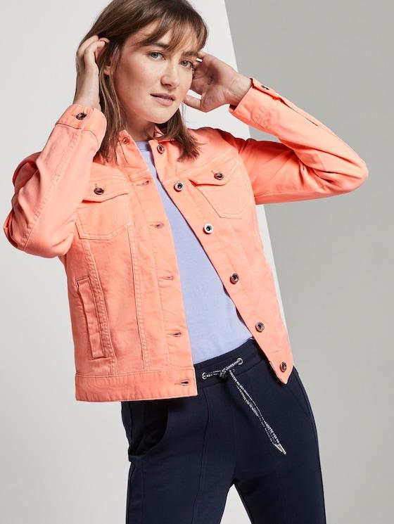 Denim jacket - Women - papaya neon orange - 5 - TOM TAILOR