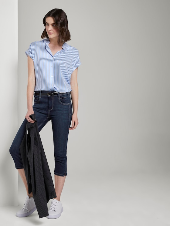 Kate Slim Capri-Jeans - Frauen - dark stone wash denim - 3 - TOM TAILOR