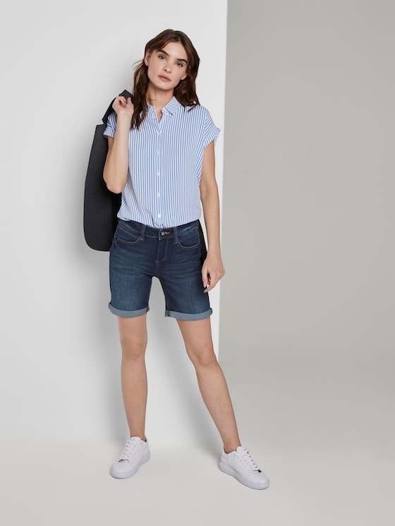Alexa Slim Bermuda Jeans-Shorts - Frauen - dark stone wash denim - 3 - TOM TAILOR