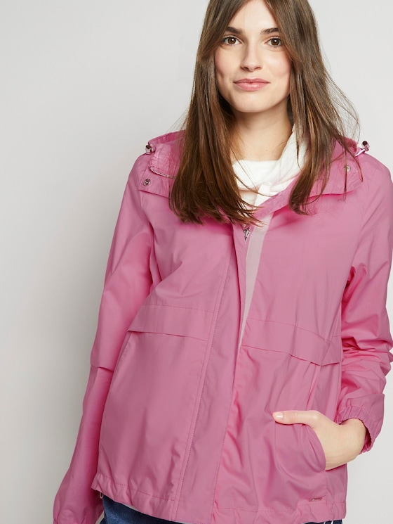 Windbreaker with a hood - Women - bright pink - 5 - TOM TAILOR Denim